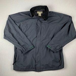 LL Bean Windbreaker Shell Jacket Grey size XL